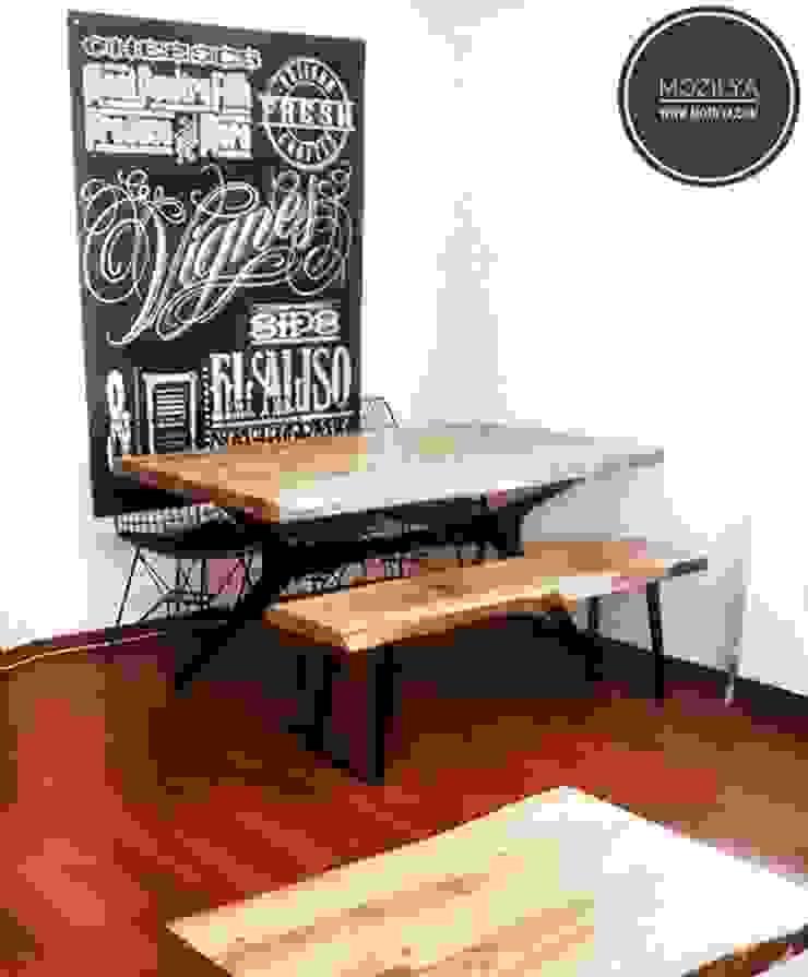 Ceviz Ağacı Masa ve Bank Mozilya Mobilya Yemek OdasıMasalar