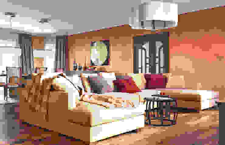 Irina Yakushina Ruang Keluarga Klasik Orange