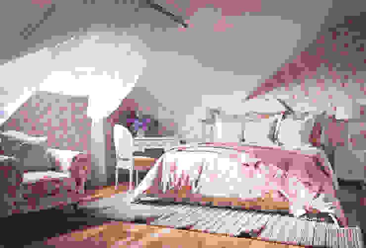 Irina Yakushina Kamar Tidur Gaya Eklektik Pink