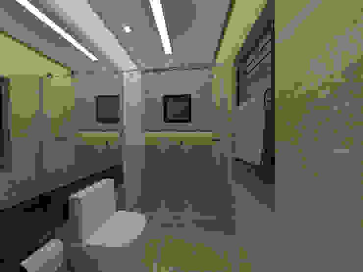 Casa E&M Banheiros modernos por Danilo Rodrigues Arquitetura Moderno