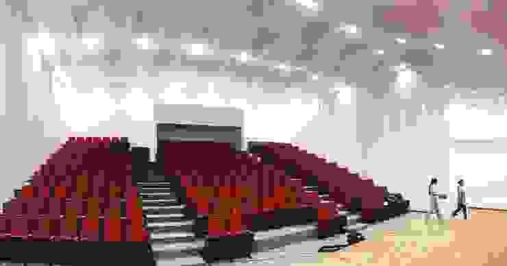 Auditorio Megaludoteca Tocancipa - Cundinamarca Salas multimedia de estilo moderno de Lopez Robayo Arquitectos Moderno