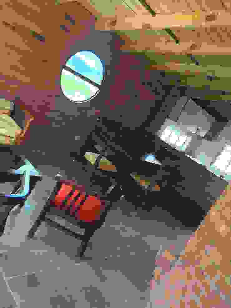 Proyecto casa de descanso Simijaca - Cundinamarca Salas de estilo rural de Lopez Robayo Arquitectos Rural