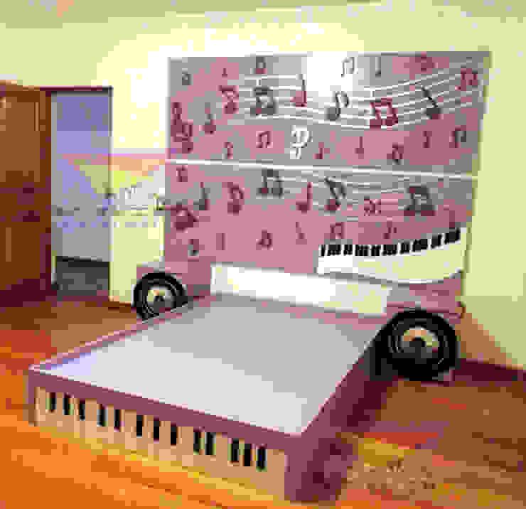 Hermosa Recamara Musical de camas y literas infantiles kids world Clásico Derivados de madera Transparente