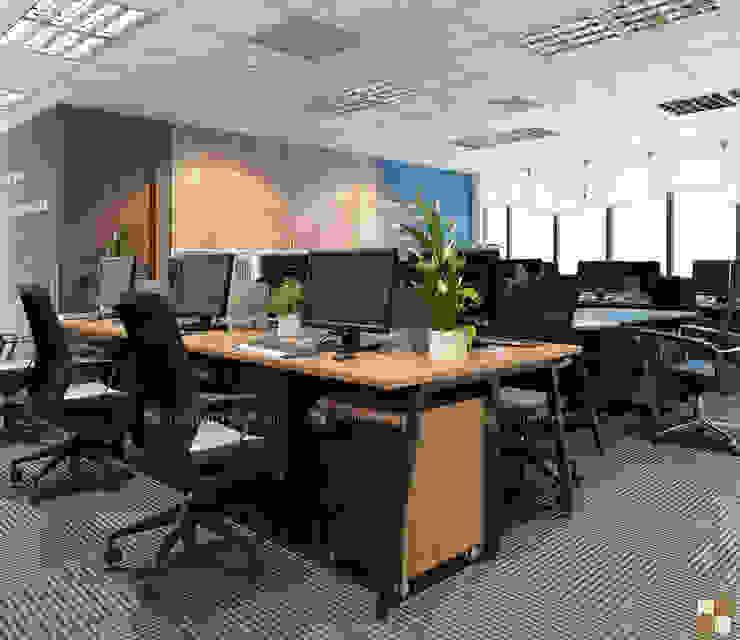 Khu làm việc ban kinh tế - View2 bởi Công ty CP nội thất Miền Bắc Hiện đại