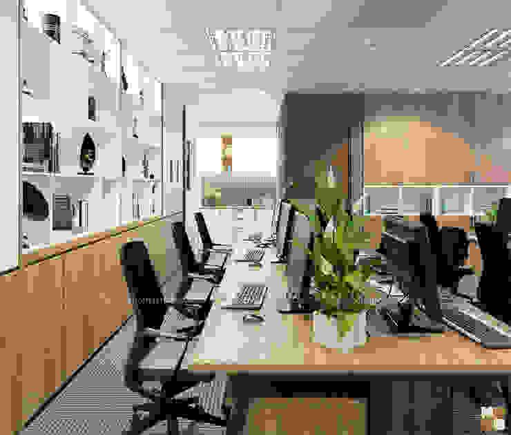 Khu làm việc ban kinh tế - View3 bởi Công ty CP nội thất Miền Bắc Hiện đại