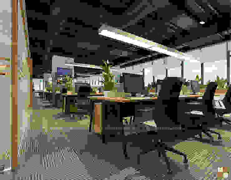 Khu làm việc trung tâm tư vấn - View1 bởi Công ty CP nội thất Miền Bắc Hiện đại