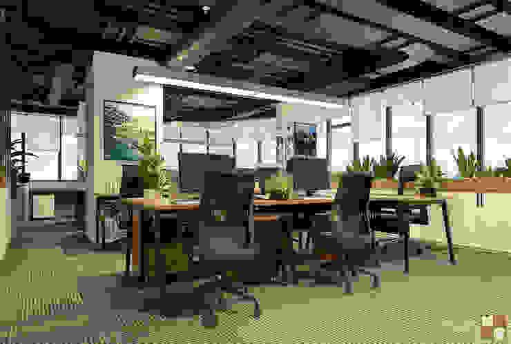 Khu làm việc trung tâm tư vấn - View2 bởi Công ty CP nội thất Miền Bắc Hiện đại