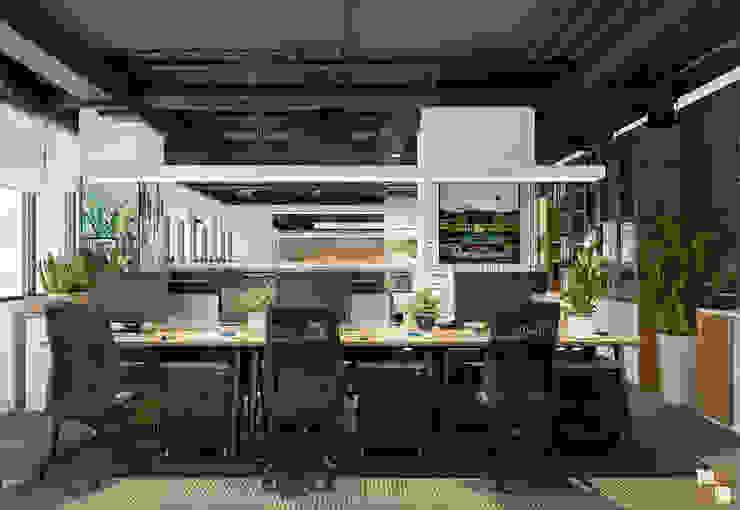 Khu làm việc trung tâm tư vấn - View3 bởi Công ty CP nội thất Miền Bắc Hiện đại