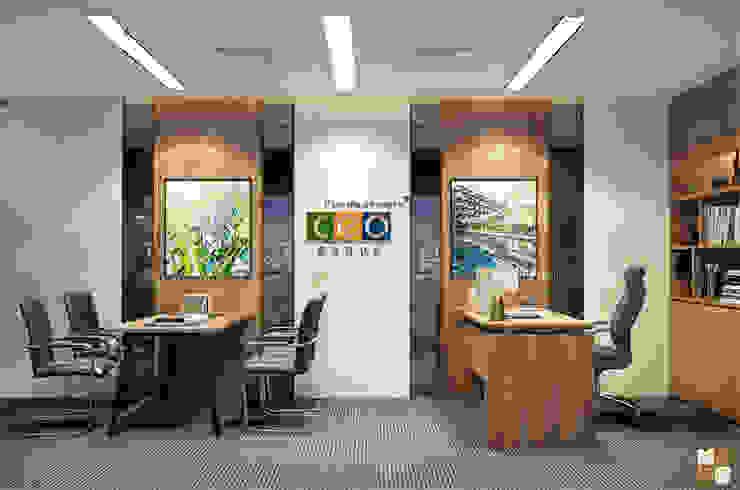 Phòng lãnh đạo trung tâm tư vấn - View1 bởi Công ty CP nội thất Miền Bắc Hiện đại