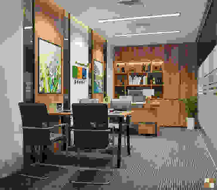 Phòng lãnh đạo trung tâm tư vấn - View2 bởi Công ty CP nội thất Miền Bắc Hiện đại