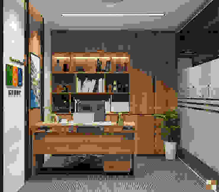 Phòng lãnh đạo trung tâm tư vấn - View3 bởi Công ty CP nội thất Miền Bắc Hiện đại