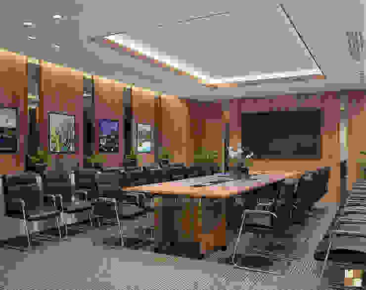 Phòng họp ban kinh tế - View1 bởi Công ty CP nội thất Miền Bắc Hiện đại