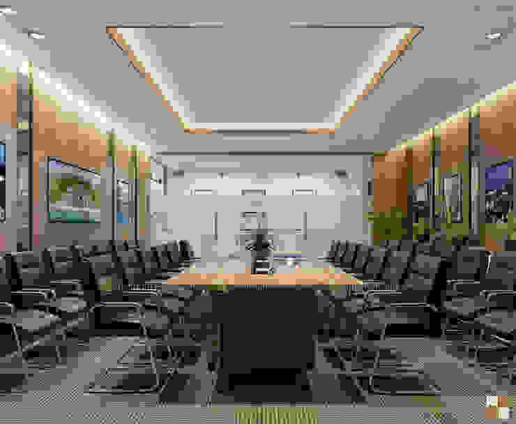 Phòng họp ban kinh tế - View3 bởi Công ty CP nội thất Miền Bắc Hiện đại