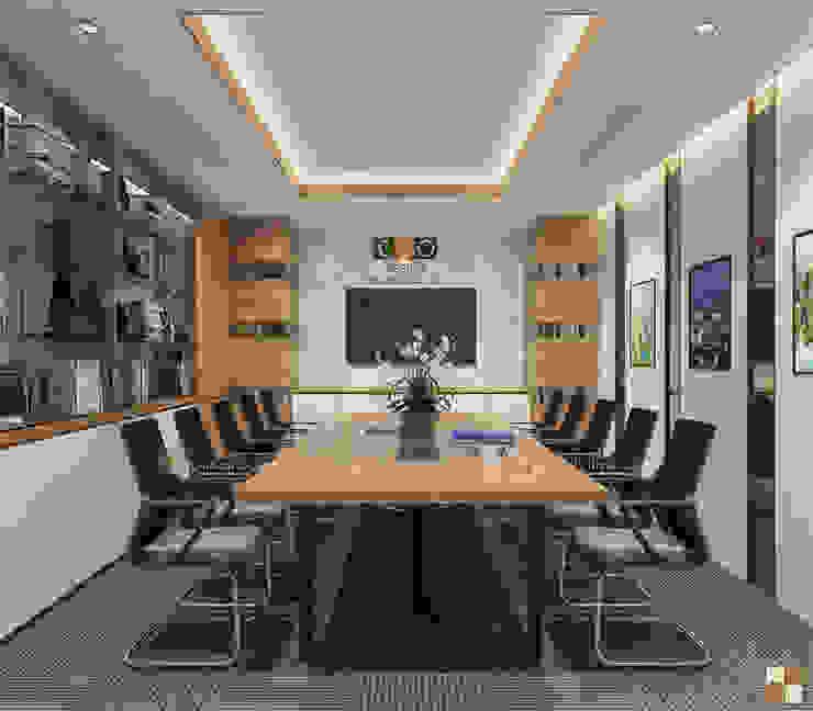Phòng họp trung tâm tư vấn - View1 bởi Công ty CP nội thất Miền Bắc Hiện đại