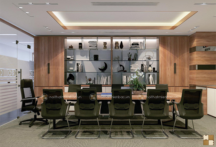 Phòng họp trung tâm tư vấn - View3 bởi Công ty CP nội thất Miền Bắc Hiện đại