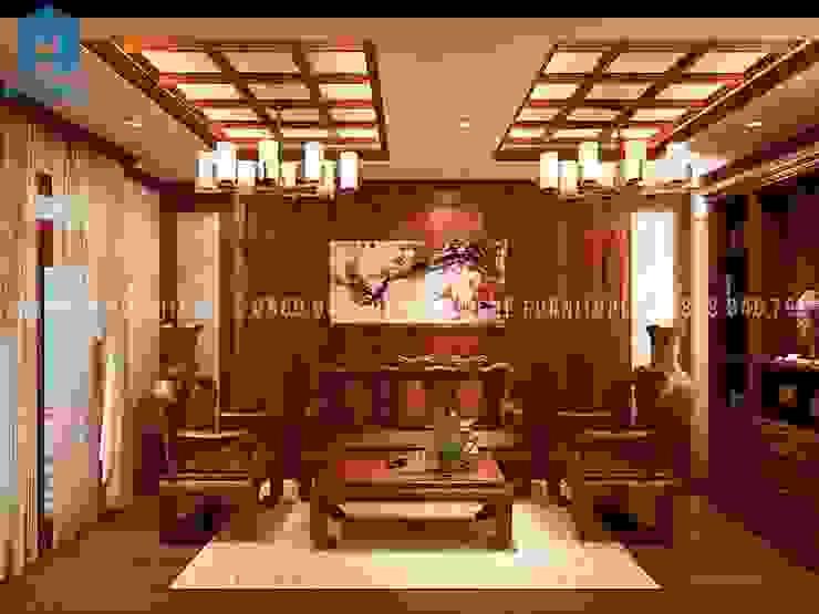 Designer Phòng khách phong cách kinh điển bởi Công ty TNHH Nội Thất Mạnh Hệ Kinh điển MDF