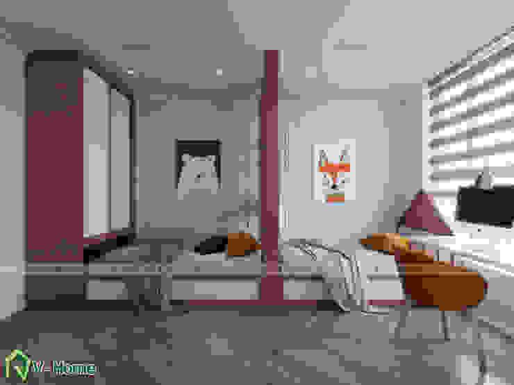 Thiết kế nội thất chung cư The Emerald : hiện đại  by Công ty CP tư vấn thiết kế và xây dựng V-Home, Hiện đại