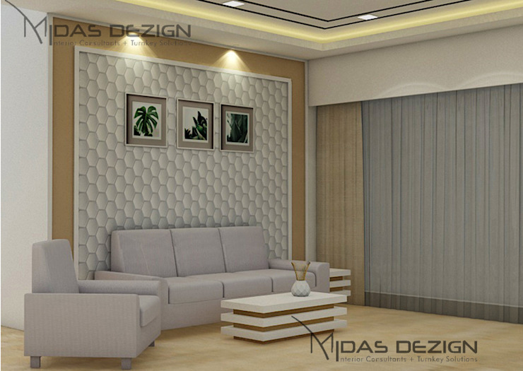 Sofa wall Modern living room by Midas Dezign Modern