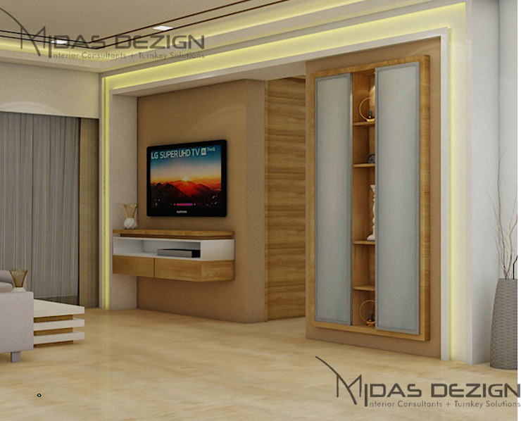 Living room - TV wall Modern living room by Midas Dezign Modern