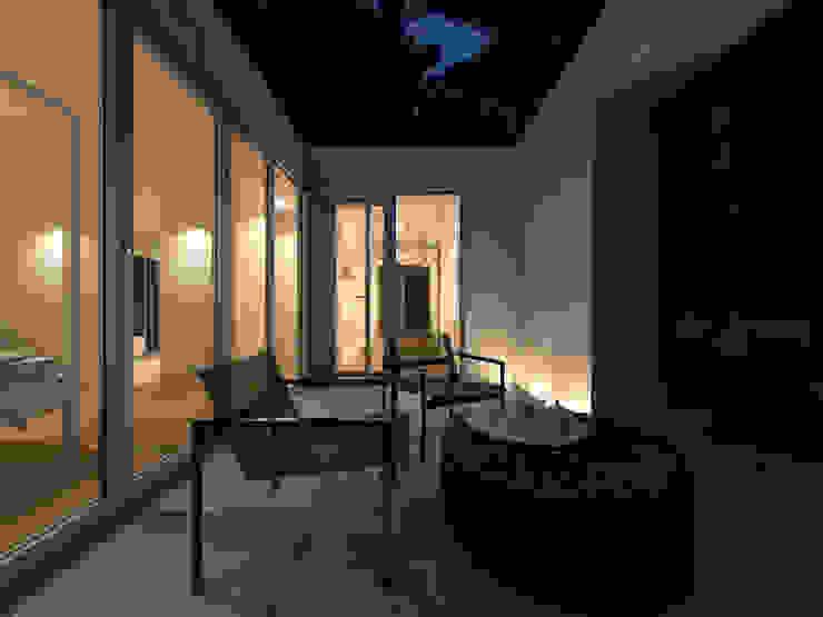 Minimalist balcony, veranda & terrace by martimsousaemelo Minimalist