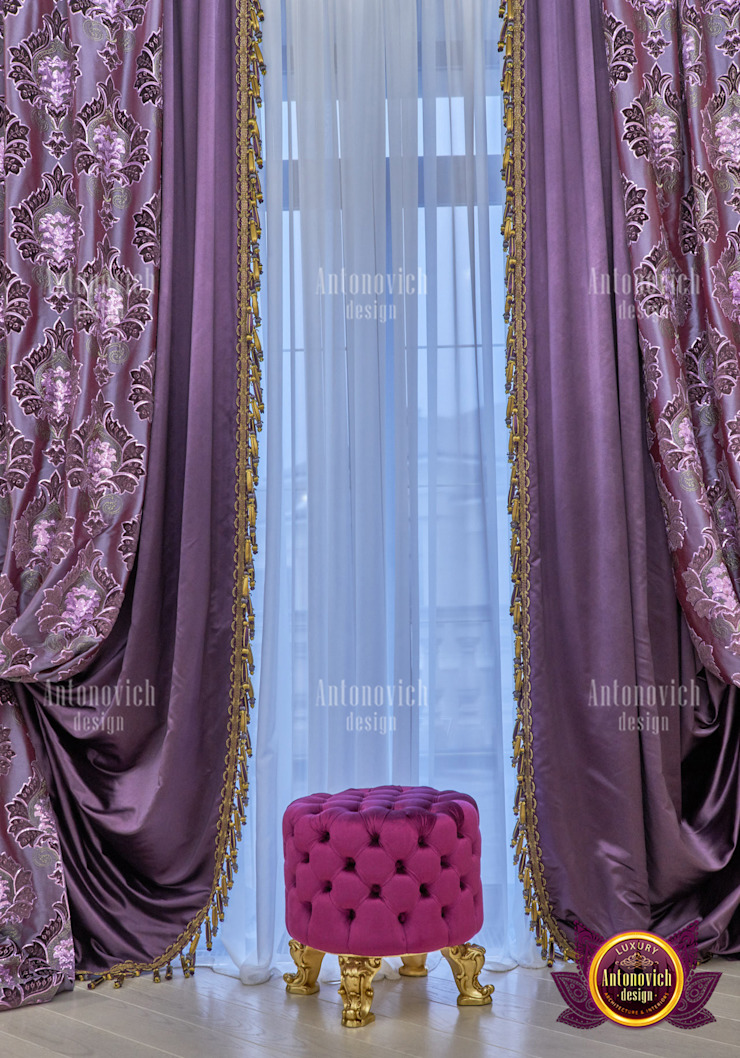 Upscale Curtains for Luxury Interior by Luxury Antonovich Design
