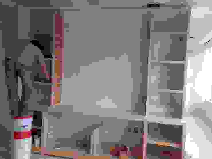 Bureau minimaliste par Solución en Carpinteria Minimaliste Bois Effet bois