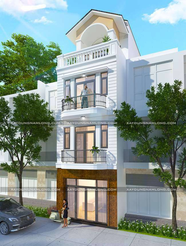 Mặt tiền nhà 1 trệt 3 lầu bởi Thiết kế nhà đẹp ở Hồ Chí Minh