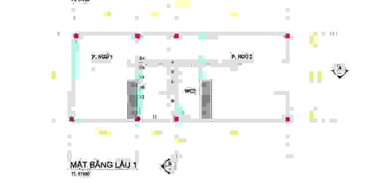Mặt bằng lầu 1 bởi Thiết kế nhà đẹp ở Hồ Chí Minh