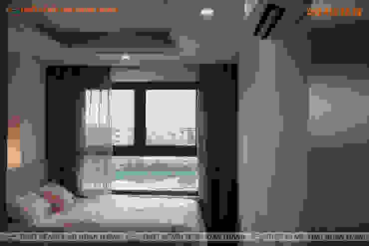 Nội thất phòng ngủ căn hộ HomyLand quận 2 Phòng ngủ phong cách hiện đại bởi Hoàn Thành Group Hiện đại