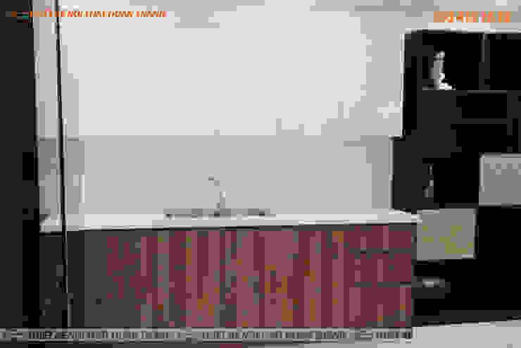 Nội Thất Nhà Bếp Căn Hộ HomyLand Quận 2 Nhà bếp phong cách hiện đại bởi Hoàn Thành Group Hiện đại