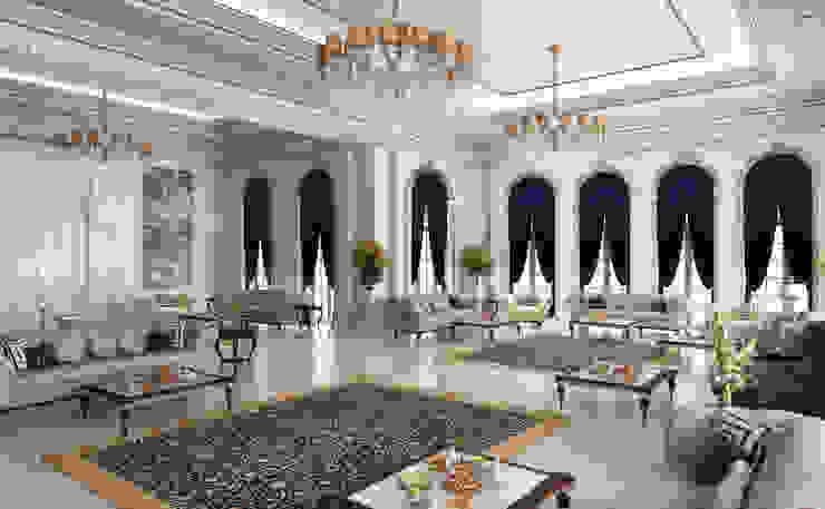Majlis / Pearl Villa Klasik Oturma Odası Sia Moore Archıtecture Interıor Desıgn Klasik Gümüş/Altın