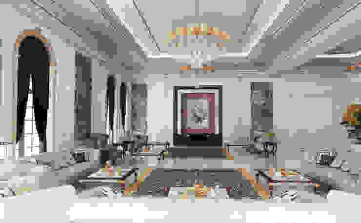 Majlis - 1 / Pearl Villa Klasik Oturma Odası Sia Moore Archıtecture Interıor Desıgn Klasik Gümüş/Altın