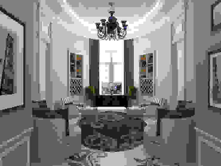 Oturma Odası - 1 / Pearl Villa Klasik Oturma Odası Sia Moore Archıtecture Interıor Desıgn Klasik Mermer