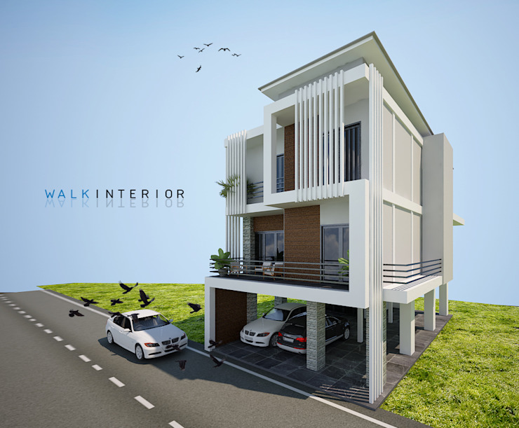 design home โดย walkinterior โมเดิร์น คอนกรีต