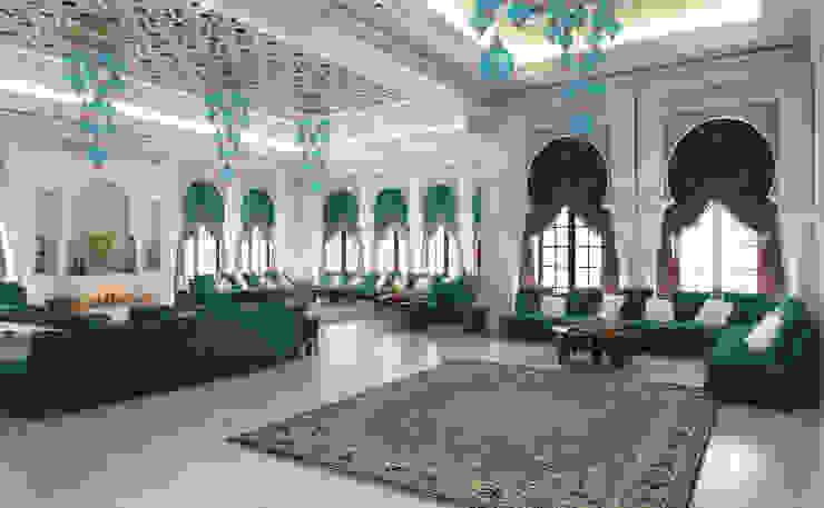 Majlis -2 / Pearl Villa Klasik Oturma Odası Sia Moore Archıtecture Interıor Desıgn Klasik Mermer