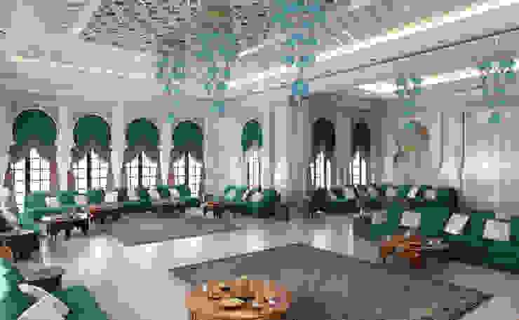 Majlis - 3 / Pearl Vila Klasik Oturma Odası Sia Moore Archıtecture Interıor Desıgn Klasik Mermer