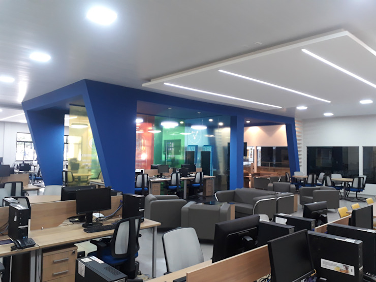 Rômulo Arquitetura . Design . Iluminação Ruang Studi/Kantor Modern