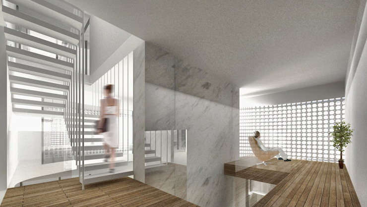 記錄生活的住宅 – 漫步蘭陽 現代房屋設計點子、靈感 & 圖片 根據 行一建築 _ Yuan Architects 現代風