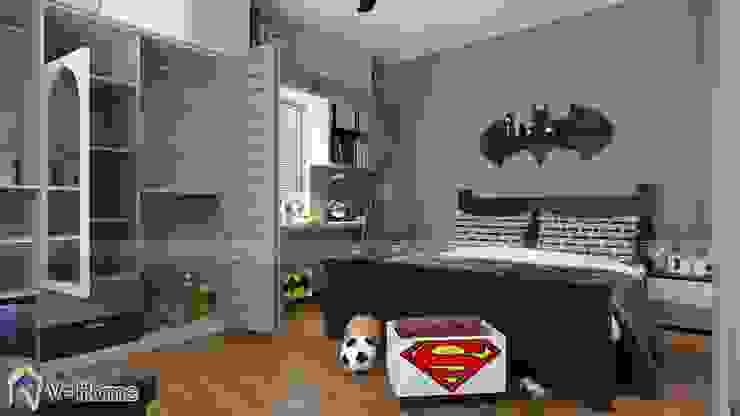 Thiết kế nội phất phòng ngủ trẻ em - batman: hiện đại  by Công ty CP tư vấn thiết kế và xây dựng V-Home, Hiện đại