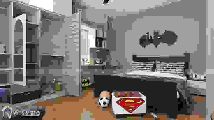 Thiết kế nội phất phòng ngủ trẻ em – batman: hiện đại  by Công ty CP tư vấn thiết kế và xây dựng V-Home, Hiện đại