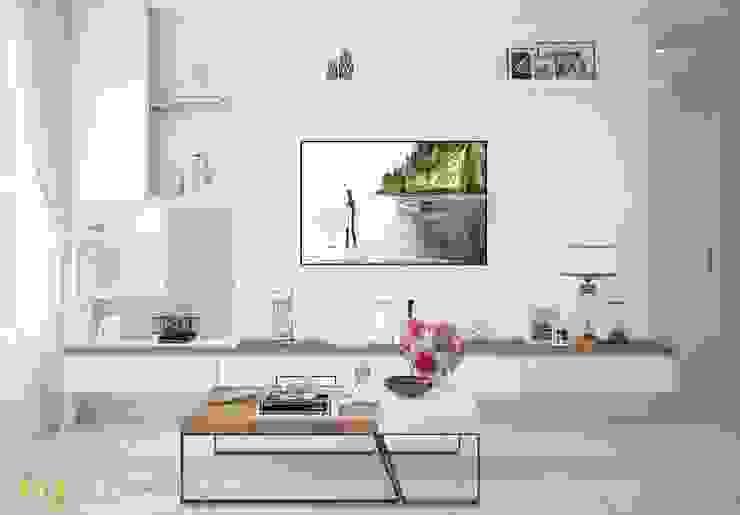 Phòng khách đẹp: hiện đại  by Công Ty TNHH Funi, Hiện đại