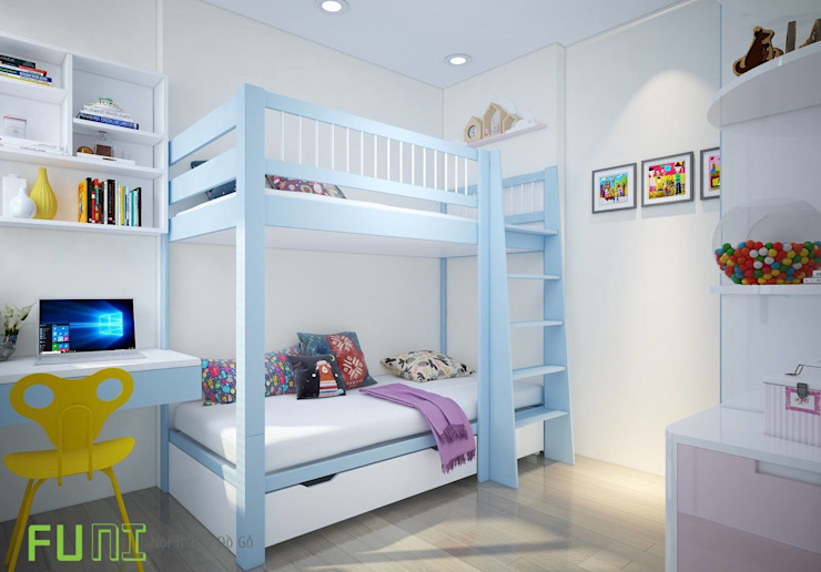 Phòng ngủ trẻ em: hiện đại  by Công Ty TNHH Funi, Hiện đại