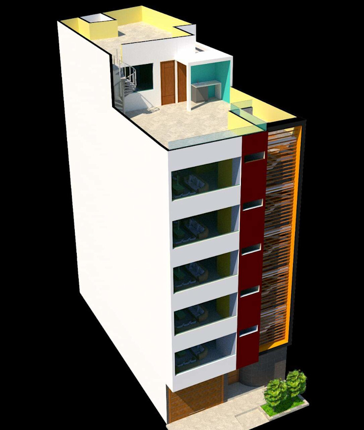 Diseño 3D de fachada de ARQconstrucciones