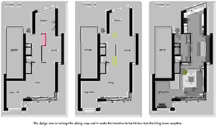 floor plan before and after van Stefania Rastellino interior design