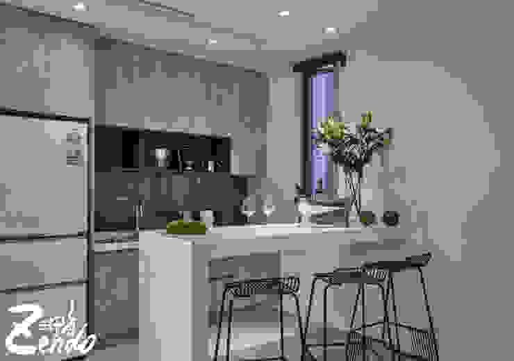 層峰 現代廚房設計點子、靈感&圖片 根據 Zendo 深度空間設計 現代風