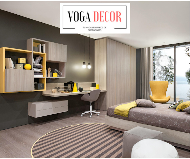 Dormitorios Matrimoniales Modernos Lima Peru: Dormitorios de estilo  por VOGA DECOR,