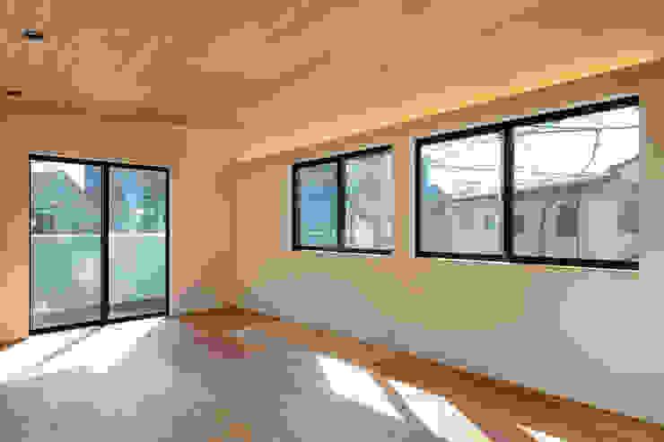 設計事務所アーキプレイス Modern Living Room Plywood Wood effect