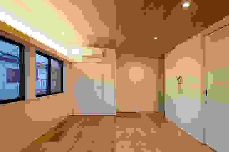 設計事務所アーキプレイス Modern Bedroom Plywood Wood effect