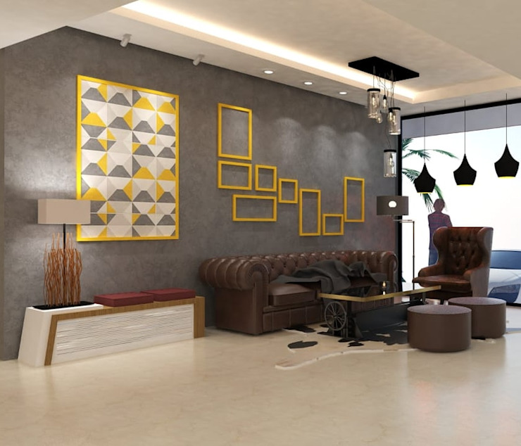 Maayish Architects Living roomSofas & armchairs Brown