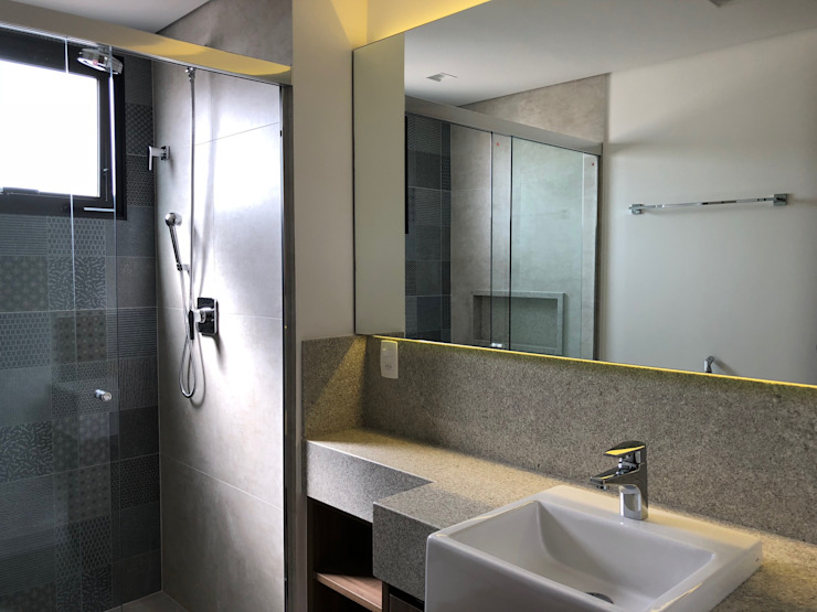 Reforma Apartamento | Moema | 2018 ABBITÁ arquitetura Banheiros modernos